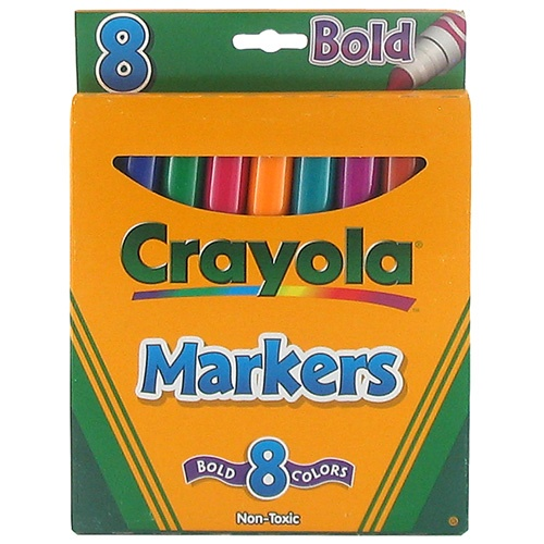 Bold markers by Crayola