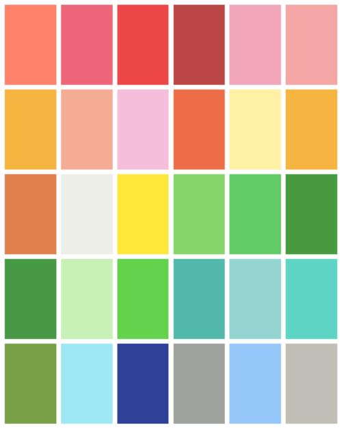 Spring Color Palette Teal Inspiration