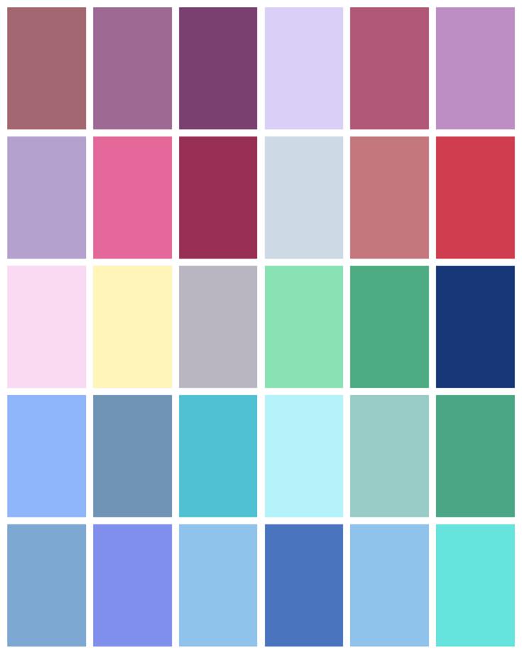 Summer Palette 2018: Summer Color Palette