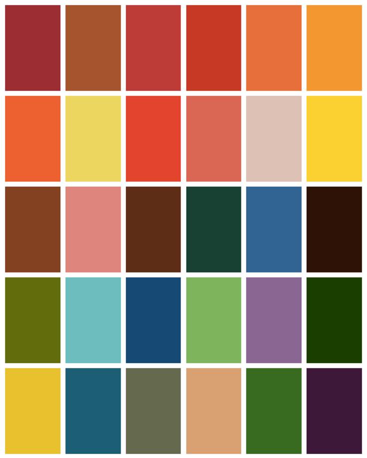 Autumn Color Palette Teal Inspiration