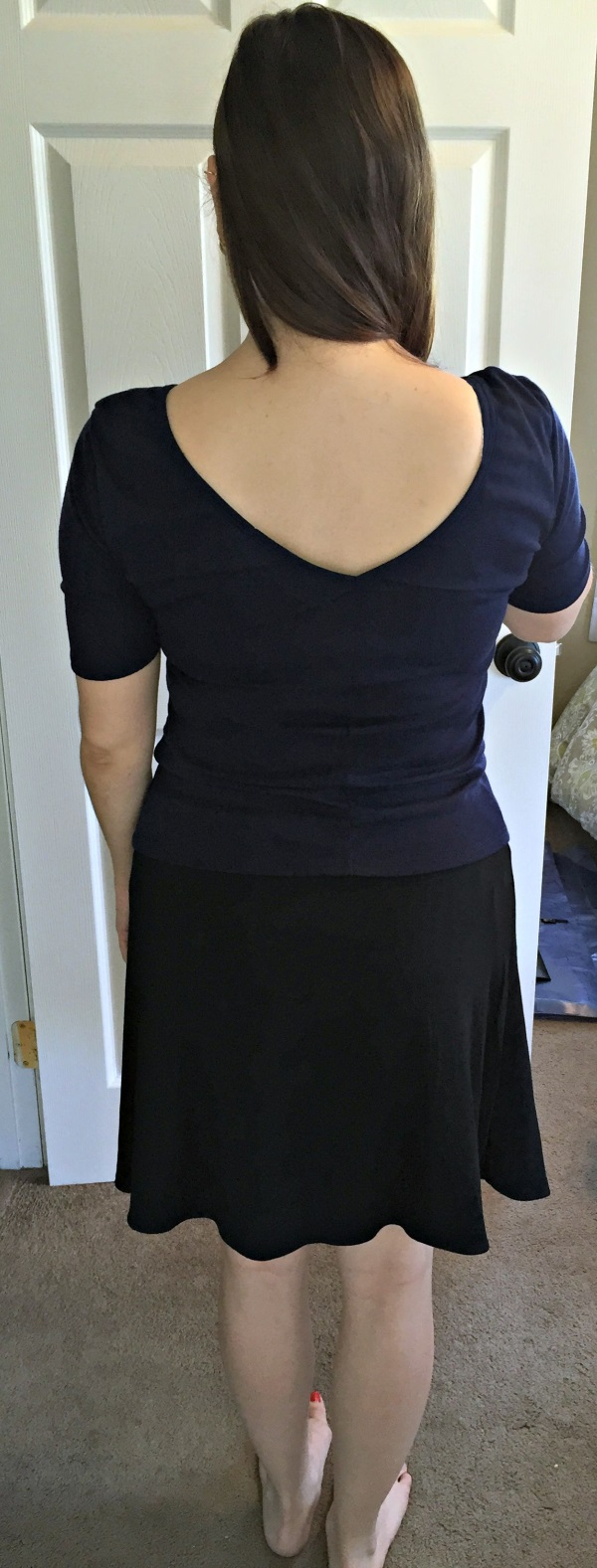 Market & Spruce Gwendolen V-Back Knit Shirt and 41Hawthorn Abbie Reversible Skirt