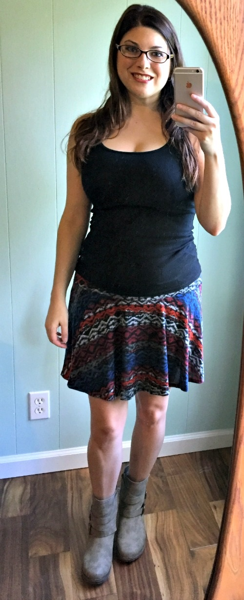 October 2015 Stitch Fix Review Papermoon Savannah Swing Skirt