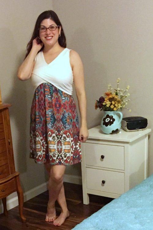 Skies are Blue Mirabelle Mixed Material Dress