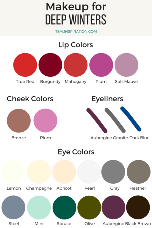 Makeup Colors For Winters Teal
