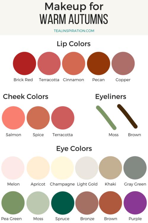 Warm Autumn Makeup Colors