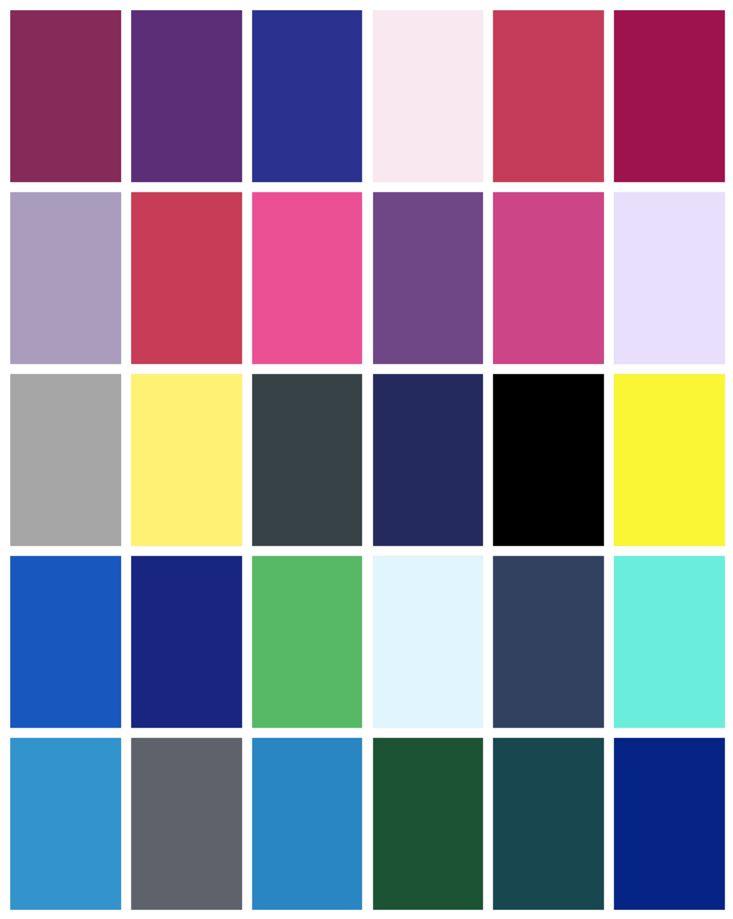 Winter Color Palette Teal Inspiration